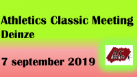 Lees meer: Athletics Classic Meeting        7 september 2019